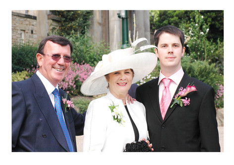The groom & his parents - Sheffield Botanical Gardens