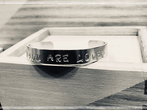 """You Are Loved"" Bracelet (inside: ""Be True Be You"")"