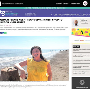 Press Coverage: Holidaysplease agent teams up with gift shop to debut on high street, TTG