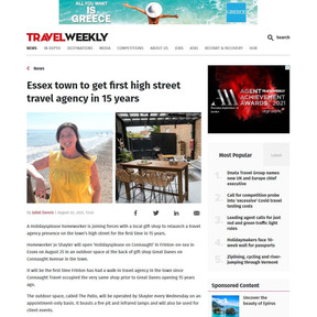 Press Coverage: Essex town to get first high street travel agency in 15 years, Travel Weekly