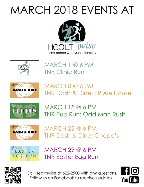 March 2018 Events At Healthwise