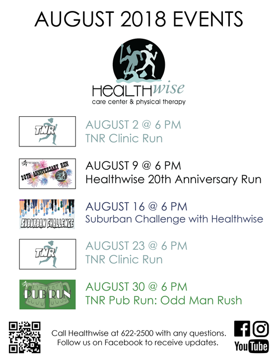 August 2018 Events @ Healthwise