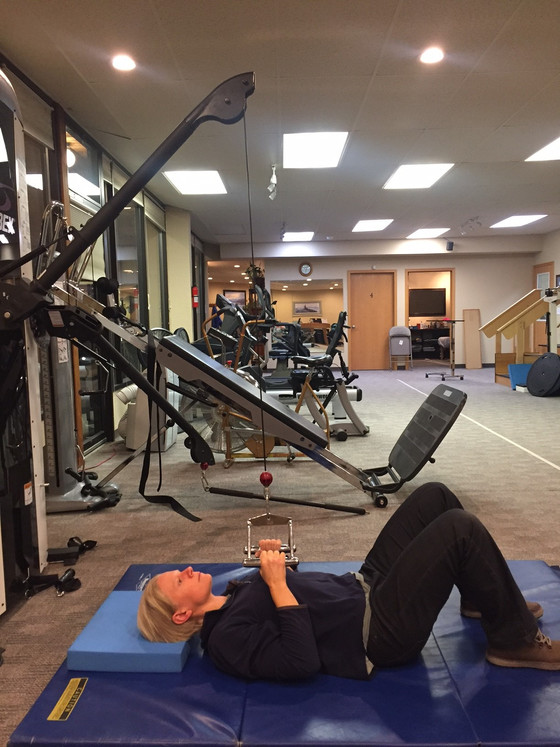 Supine Hookly Pull Down/Row: Neutral Grip
