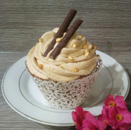 Gingerbread Latte Cupcake