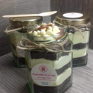 Vanilla and Chocolate Cupcake in a Jar - £4.50