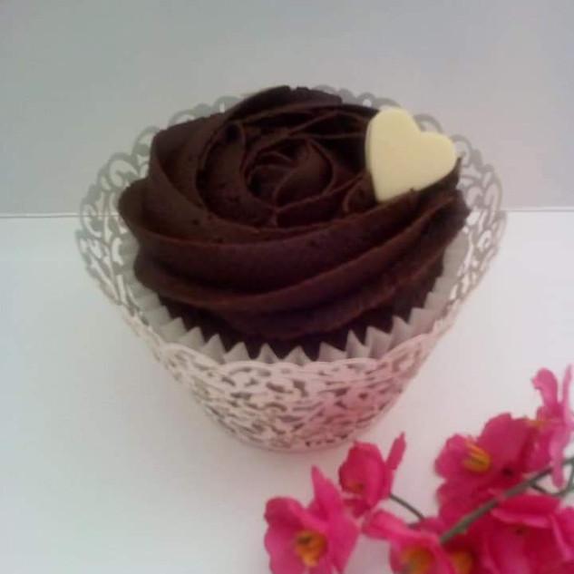 Chocolate Heart Cupcake