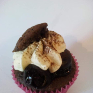 Black Cherry and Chocolate Cupcake