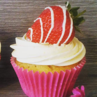 Fresh Strawberry Cupcake