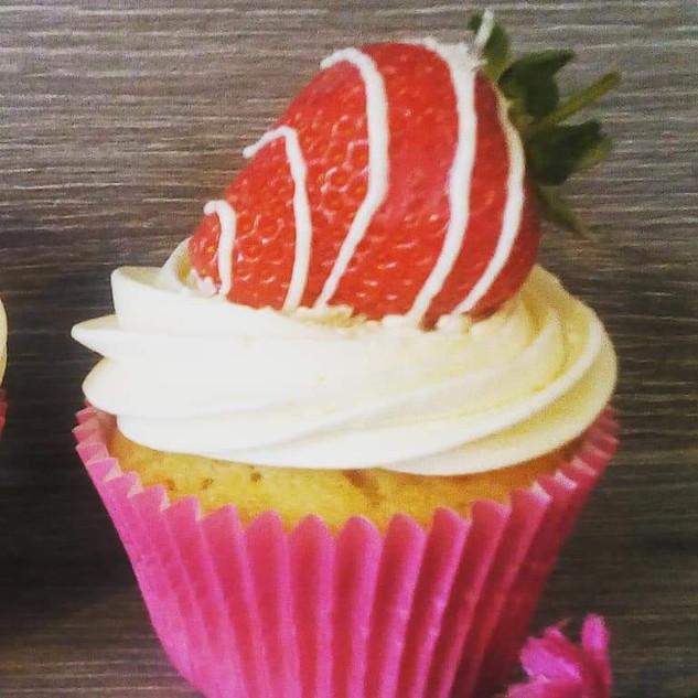 Fresh Strawberry Cupcake