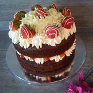 Red Velvet & Strawberry Cake - £15.99