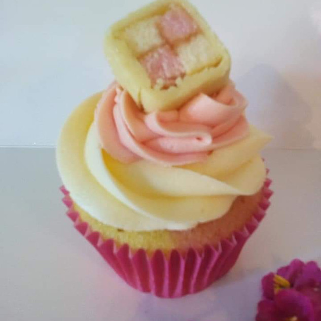 Battenberg Cupcake