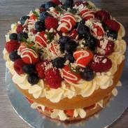 White Chocolate & Summer fruit Victoria Sponge - £15.99