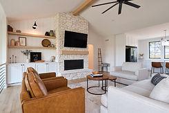 Living Space in Custom Home Built by Ridgewood Homes LLC