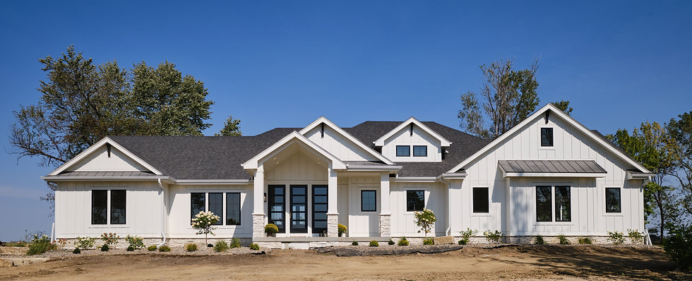 Exterior of Custom Home Build by Ridgewood Homes