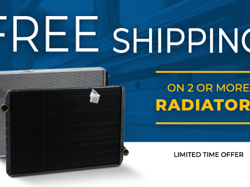 Free Shipping for Radiators