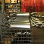 MUFFLER AND CATALYST TUBE ASSEMBLY
