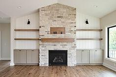 Ridgewood Homes Custom Home LIving Room Fireplace