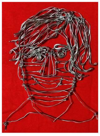 Wire self portrait