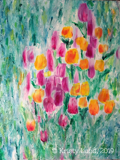Tulips, abstract