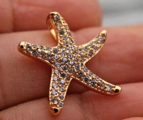 Pingente Estrela do Mar com Topázio