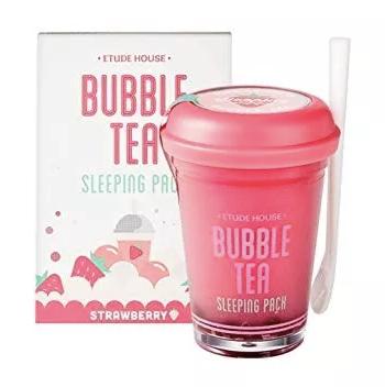 Máscara Hidratante - Morango Bubble Tea Sleeping Pack (Original Coreia)