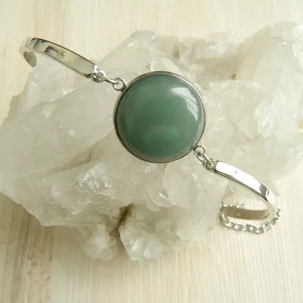 Pulseira Pedra Quartzo Verde