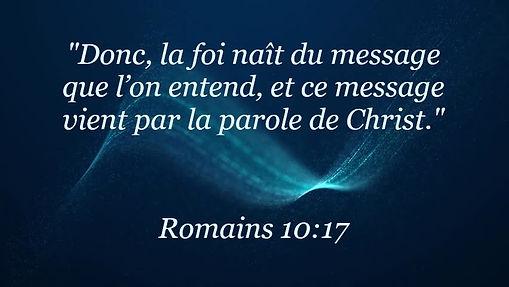Romains 10:17