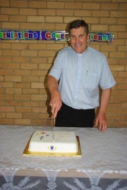 Cutting Cake at 30th Anniversary