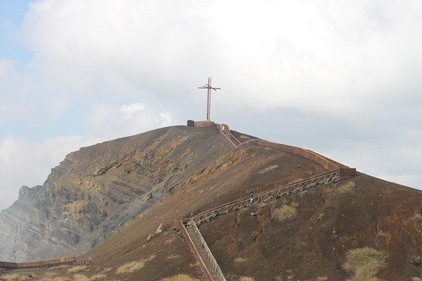 Cross over Masaya Volcano