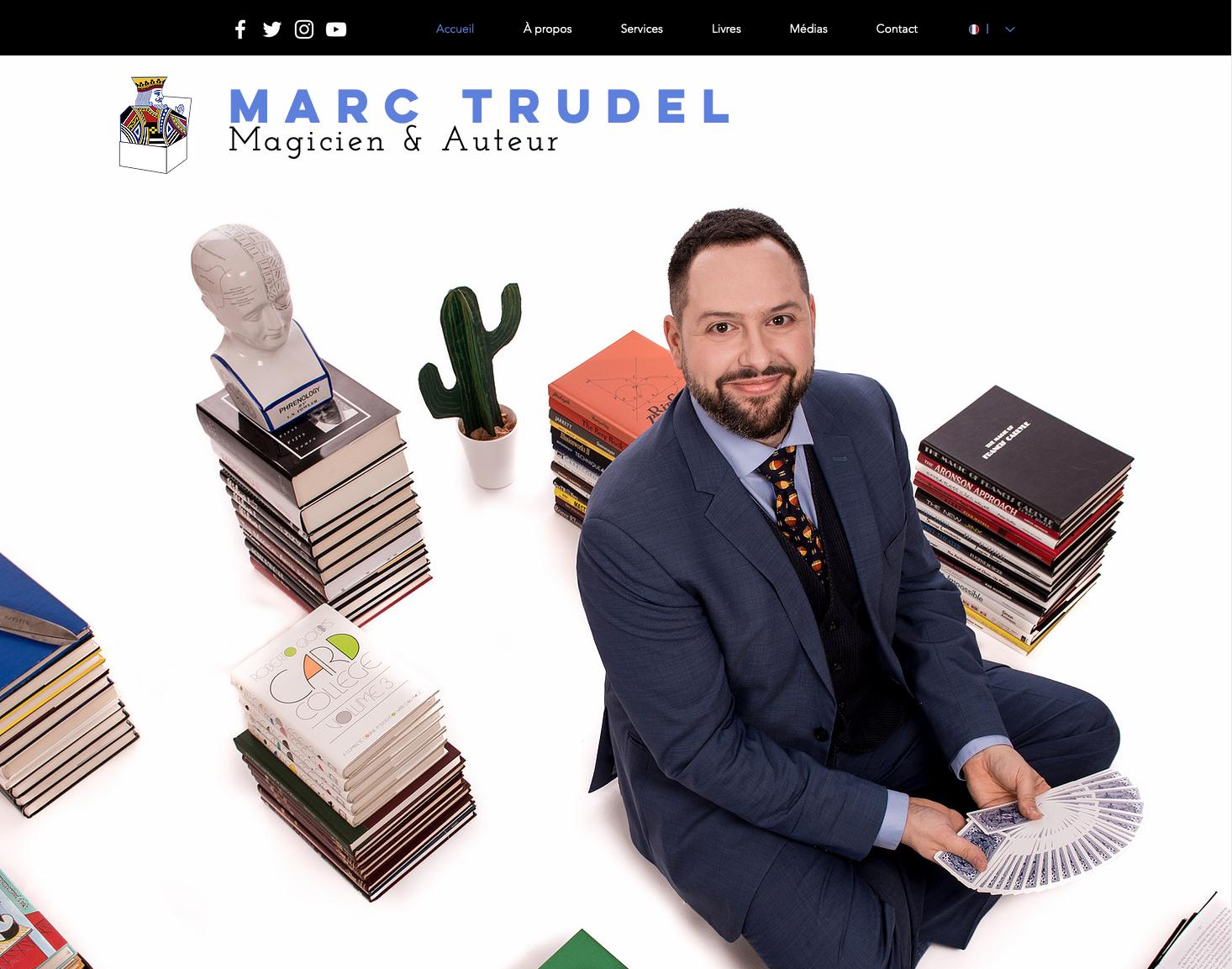 Site web - Marc Trudel Magicien