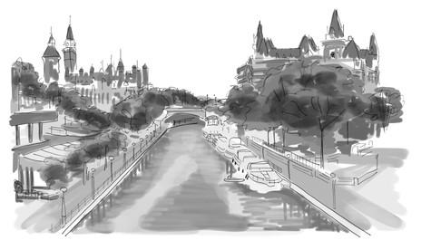 Illuatrstion Manoir maléfique - Le Canal Rideau