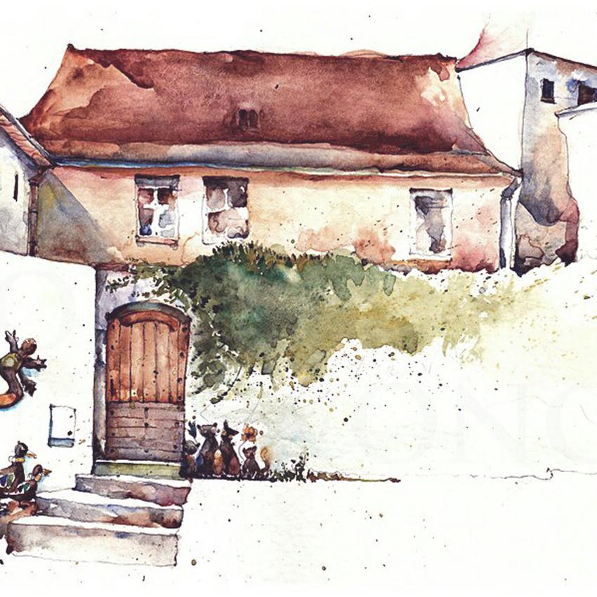 Broderick-Wong-Watercolors-Charles-Reid-Sarlat-La-Caneda-2016-2