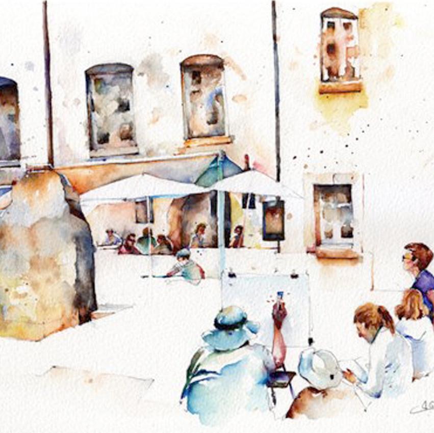 Broderick-Wong-Watercolors-Charles-Reid-Sarlat-La-Caneda-2016-1