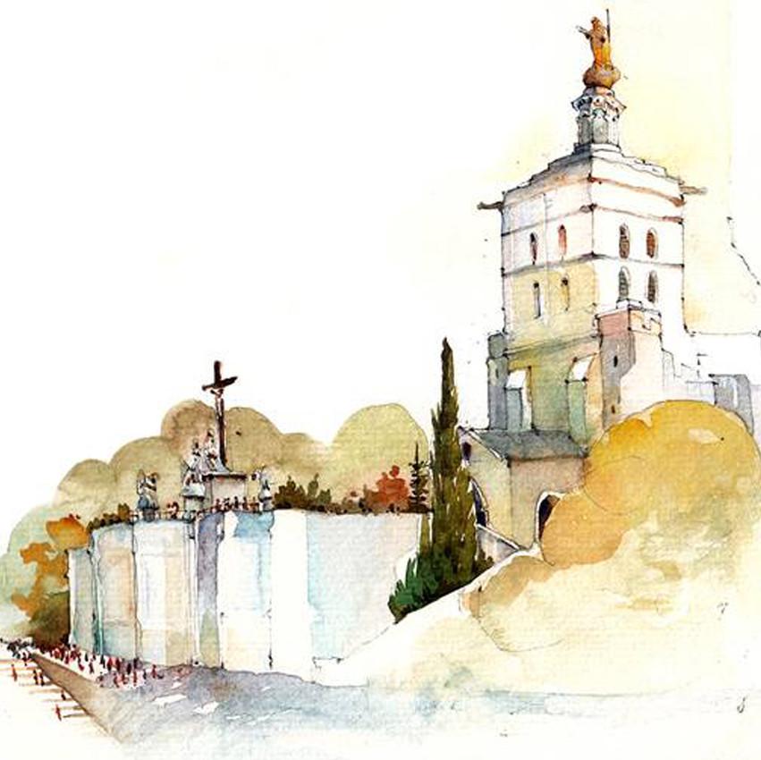 Broderick-Wong-Watercolors-Charles-Reid-Avignon-2016