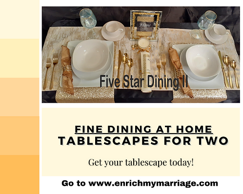 Five Star Dining II - Tablescape For Two (Free Shipping)