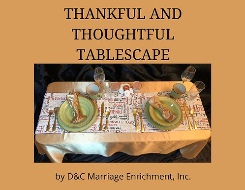 Thankful and Thoughtful - Tablescapes For Two by D&C (Free Shipping)