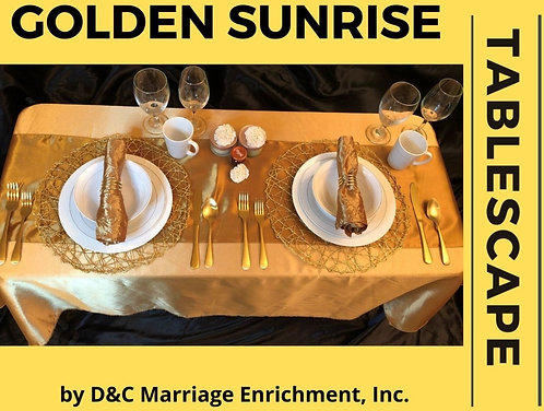 Golden Sunrise - Tablescapes For Two by D&C (Discount Shipping)