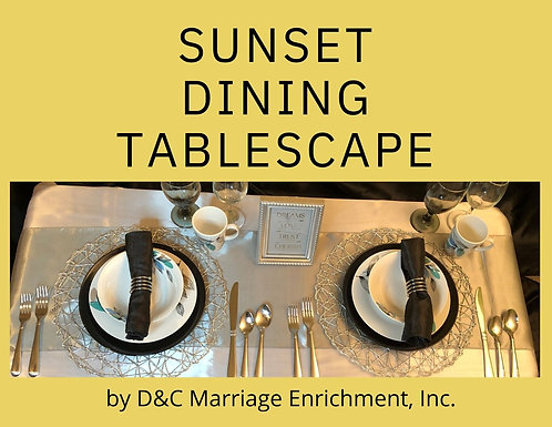 Sunset Dining - Tablescapes For Two by D&C (Free Shipping)