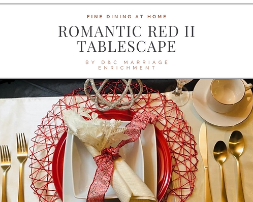 Romantic Red II - Tablescape for Two (Free Shipping)