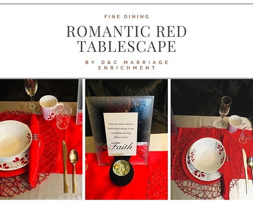 Romantic Red, - Tablescapes by D&C (Free Shipping)