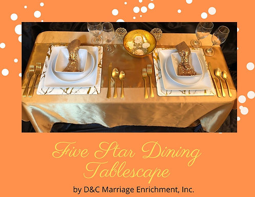 Five Star Dining - Tablescapes For Two by D&C (Free Shipping)