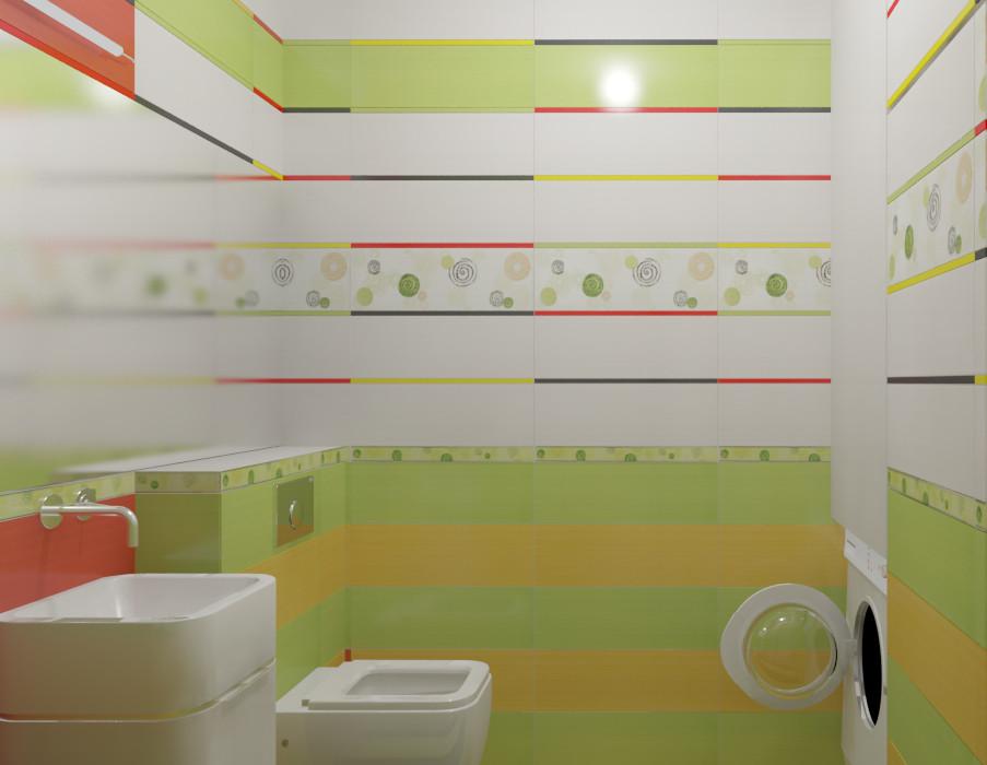 Гостевой туалет. Визуализация.