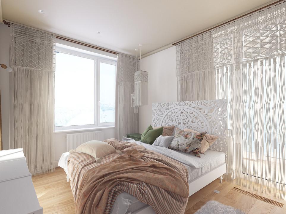 Спальня-бохо.