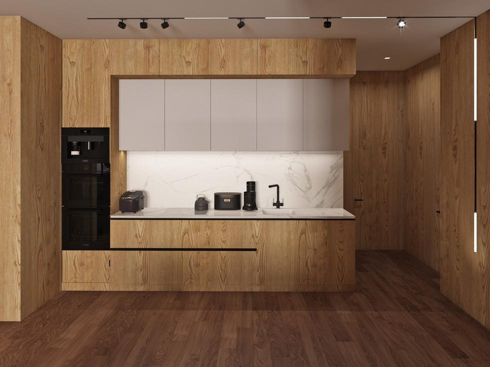 Гостиная Зона кухни.
