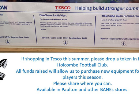 Holcombe are raising funds in partnership with Tesco