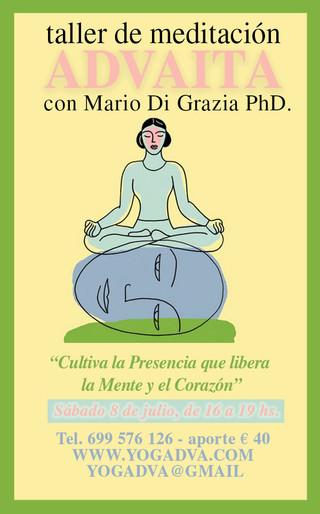 MEDITACION ADVAITA - YOGA y QI GONG taller 8 de julio con Mario Di Grazia La Presencia que libera la
