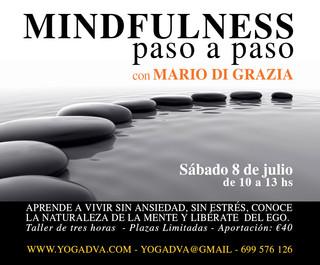 MINDFULNESS PASO A PASO taller 8 de julio con Mario Di Grazia