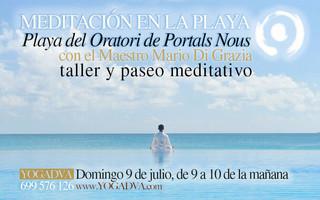 MEDITACION EN LA PLAYA DE PORTALS JUEVES 6 de JULIO a las 9