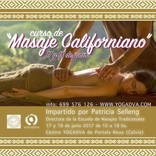 17 y 18 Junio: CURSO DE MASAJE CALIFORNIANO