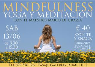 13/06: CURSO DE YOGA Y MEDITACION MINDFULNESS con Mario Di Grazia